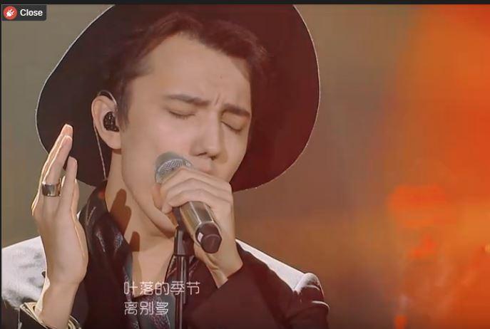 迪马希《秋意浓》,歌手舞台上有一亮点!
