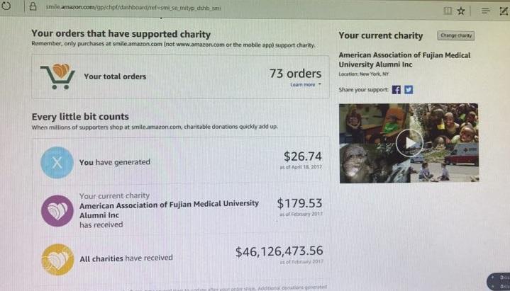 感谢所有支持福医美国校友会教育基金会的朋友