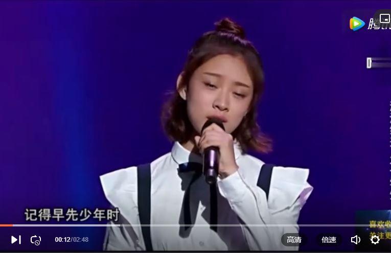 《中国好声音》:美女翻唱刘欢的歌