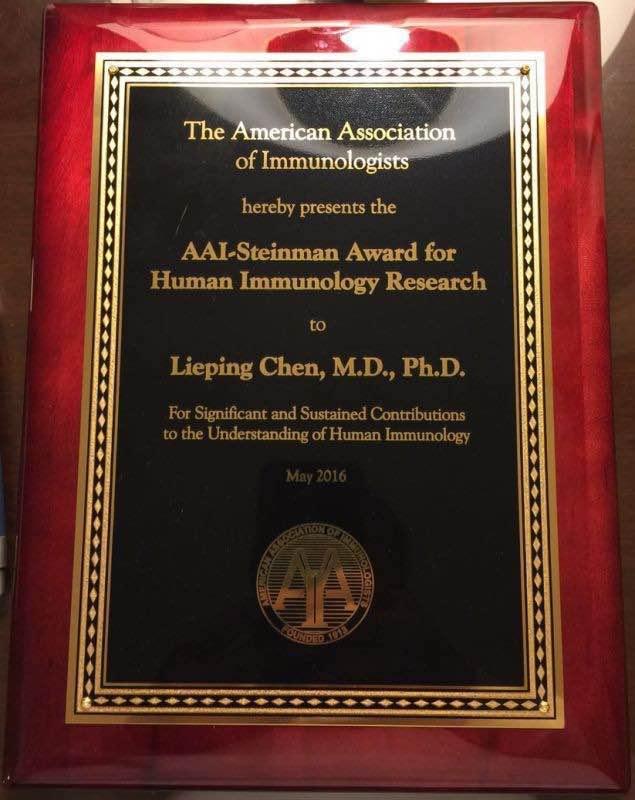 AAI Steinman Award 奖牌